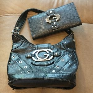 Vintage GUESS Mini Leather Handbag and Wallet